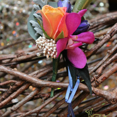 BoHo boutonniere by Butera The Florist